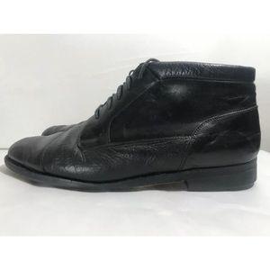 Johnston Murphy Ankle Boots Black Leather Chukka